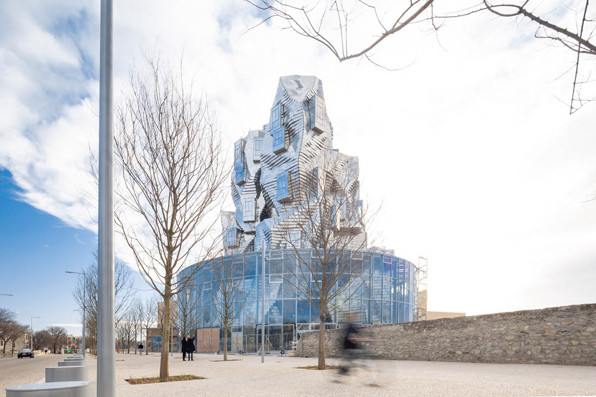 Frank Gehry's twinkling Luma Arles Tower in France captured in new photos by Vincent Hecht